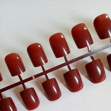 24 шт., блестящие сексуальные красные накладные ногти, плоские акриловые накладные ногти, модный дизайн, сделай сам, дизайн ногтей, Дамский са...(Китай)