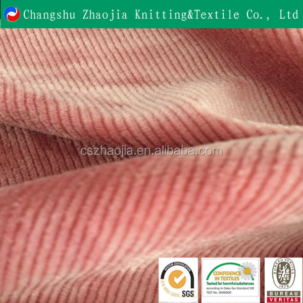 China eco friendly knitting factory Wholesale 4 wale corduroy fabric manufacture