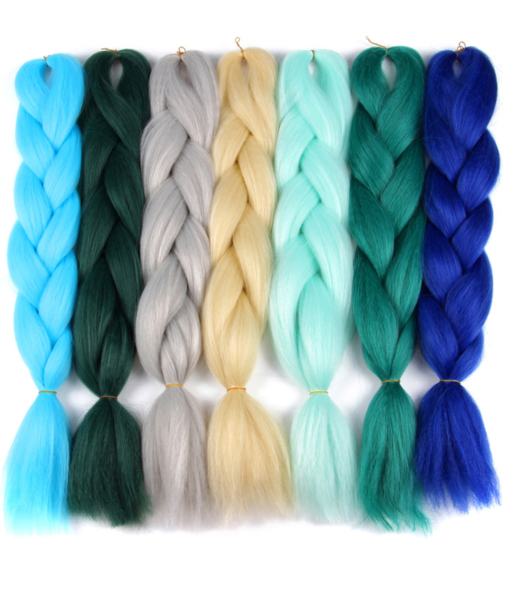 "AliLeader Wholesale Kanekalon Jumbo Braid 16 Color 24""Jumbo Braiding Hair For women"