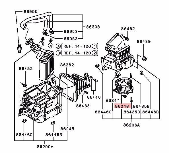 heater blower fan  u0026 motor kit for mitsubishi pajero