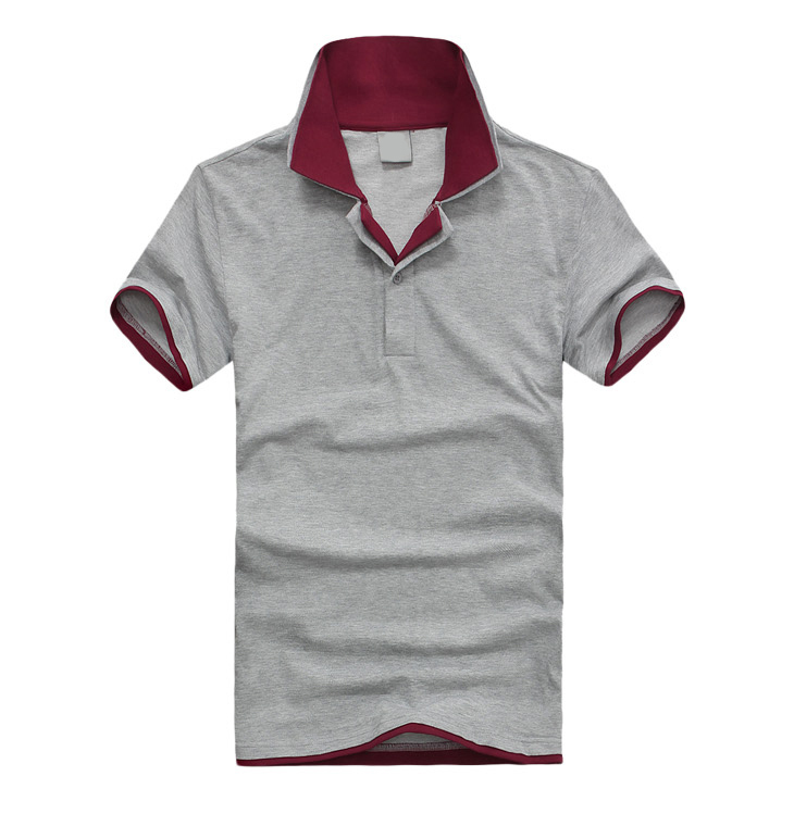 Loose Short Sleeve Polo T Shirt Pure Cotton Seamed Sweatshirts