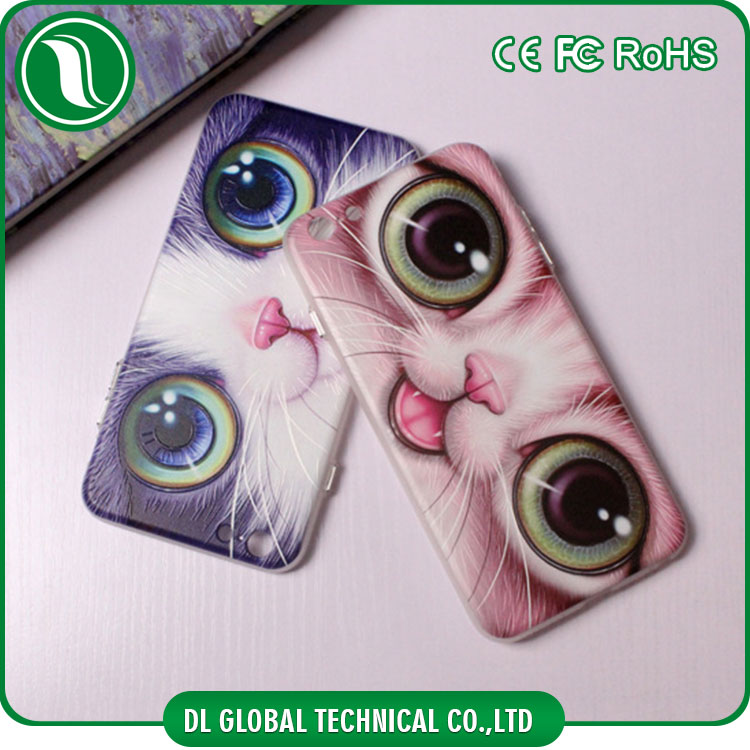 3D embossing printing cute cat phone case for iphone 6 high quality soft tpu cover