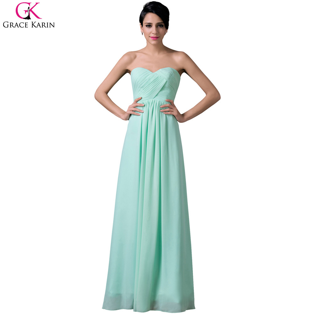 Cheap Grace Karin Pale Turquoise Strapless Sleeveless Long ...