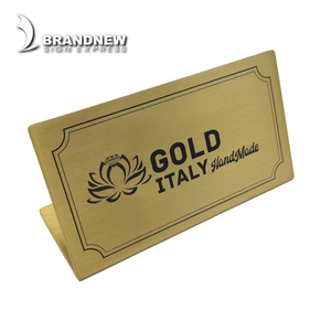 Professional custom made metal brass office door name plate