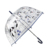 Factory direct sale customized dog print POE cheap transparent umbrella for women