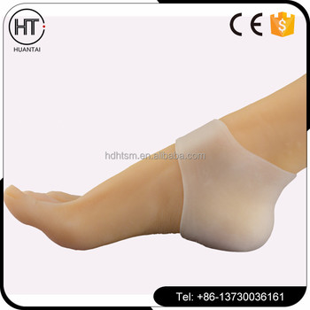 bef7b0c8db Silicone Gel Insoles Relief Plantar Fasciitis Heel Pain Skin Crack Heel  Cushion Feet Care