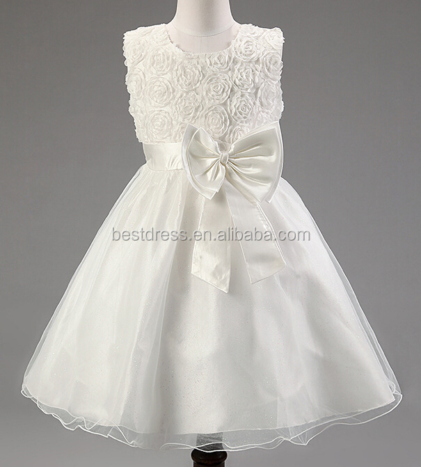 Flower Girl Christening Dress Occasion Party Bridesmaid Wedding Girls' Dress