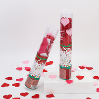 Cloth Love Rose Party Popper Compressed Air Wedding Confetti Cannon