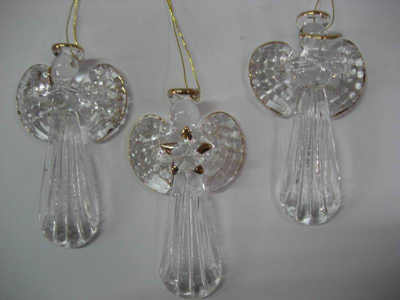 High Quality Wholesale Glass Christmas Decoration Angel