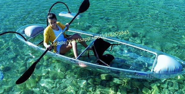 Transparent Crystal Clear Kayak Person Touring Kayak Clear