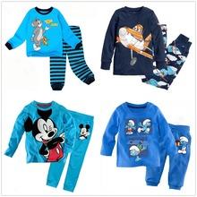 new cotton Long sleeve boy s pajamas sets kid s sleepcoat children s pyjamas boy s