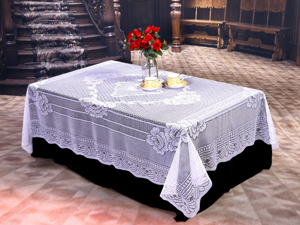 Online Get Cheap Ivory Lace Tablecloth Aliexpress Com