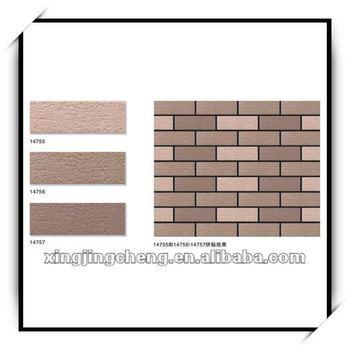 2016 new design glazed exterior ceramic wall tile 45x145 for New wall tiles 2016
