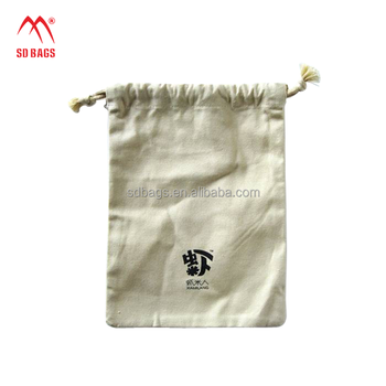 Reusable use Shopping DIY Color standard size durable cotton drawstring bag