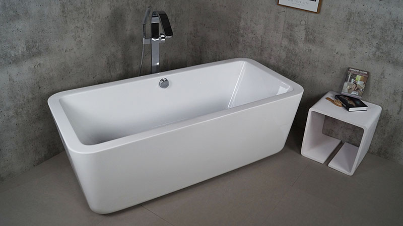 Modern Small Bathtub Shower Combo Clear Arrylic Bathtub Soaking