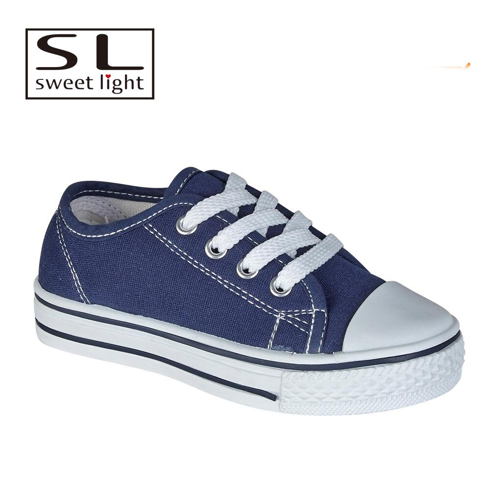 Latest style low topblue china canvas shoes for women