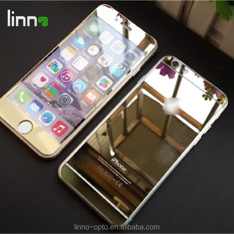 Hot Sale 2.5D 9H 0.33mm Color Mirror mobile phone Tempered Glass Screen Protector for Iphone 6 plus