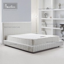 100% genuine leather modern white leather bedroom furniture set