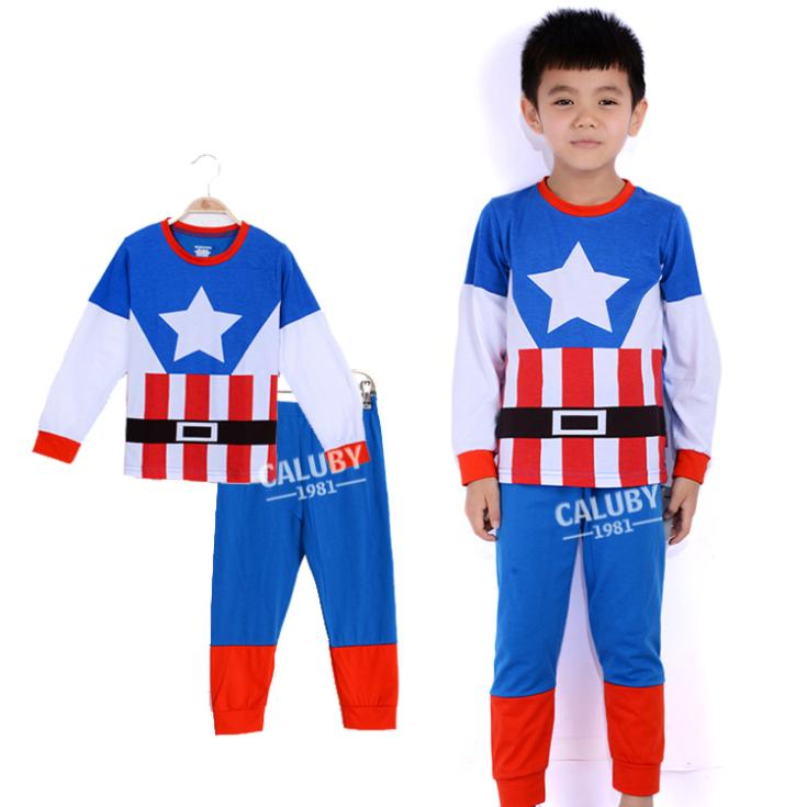 6f6388d351 Buy new design baby kids sleepwear retail children pyjamas hot movie  costume clothes captain america boys pajama set in Cheap Price on  Alibaba.com