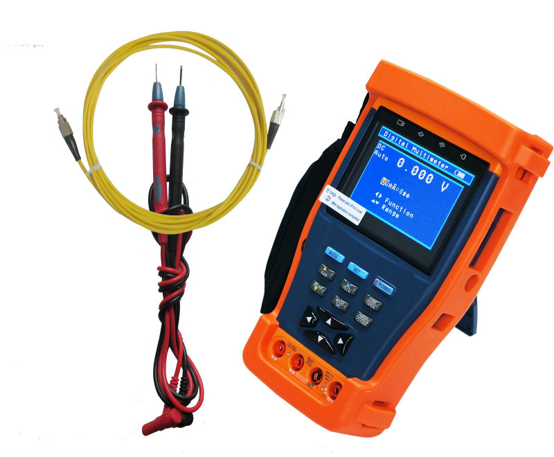 3.5 inch CCTV Tester with power meter, digital multimeter and PTZ controller