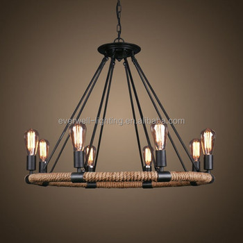 Chinese Antique Lamps Rope Vintage Chandelier
