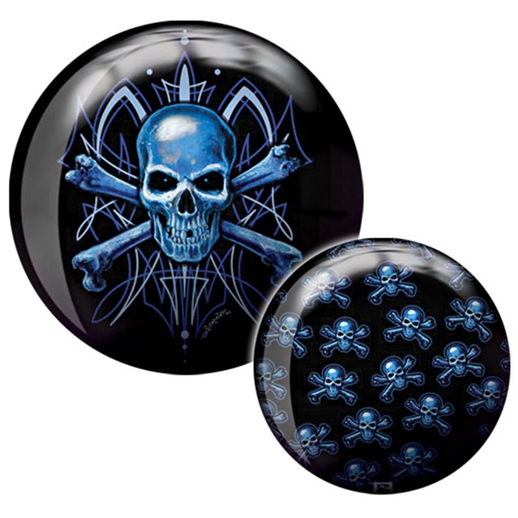 Brunswick Skull PRE-DRILLED Viz-A-Ball Bowling Ball