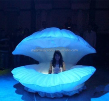 2017 Hot sale giant inflatable seashell, inflatable clamshell for advertising
