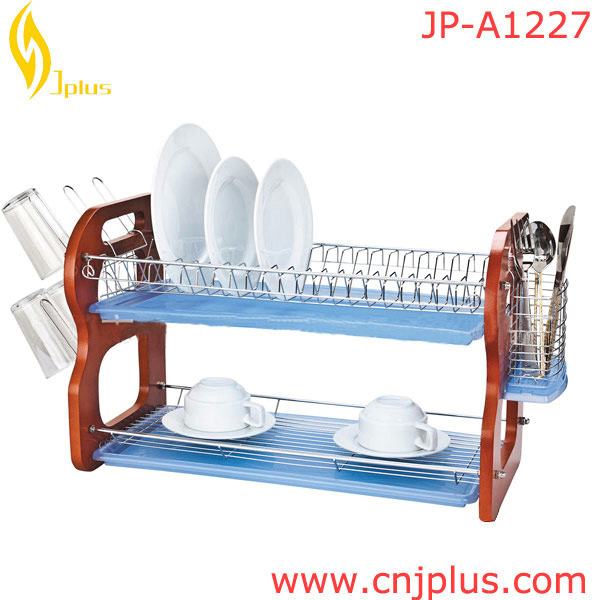 JP-A1227 Popular Wall Mounted Wire Dish Rack / Kitchenware Dish Drying Rack / Dish And Cups Drainer