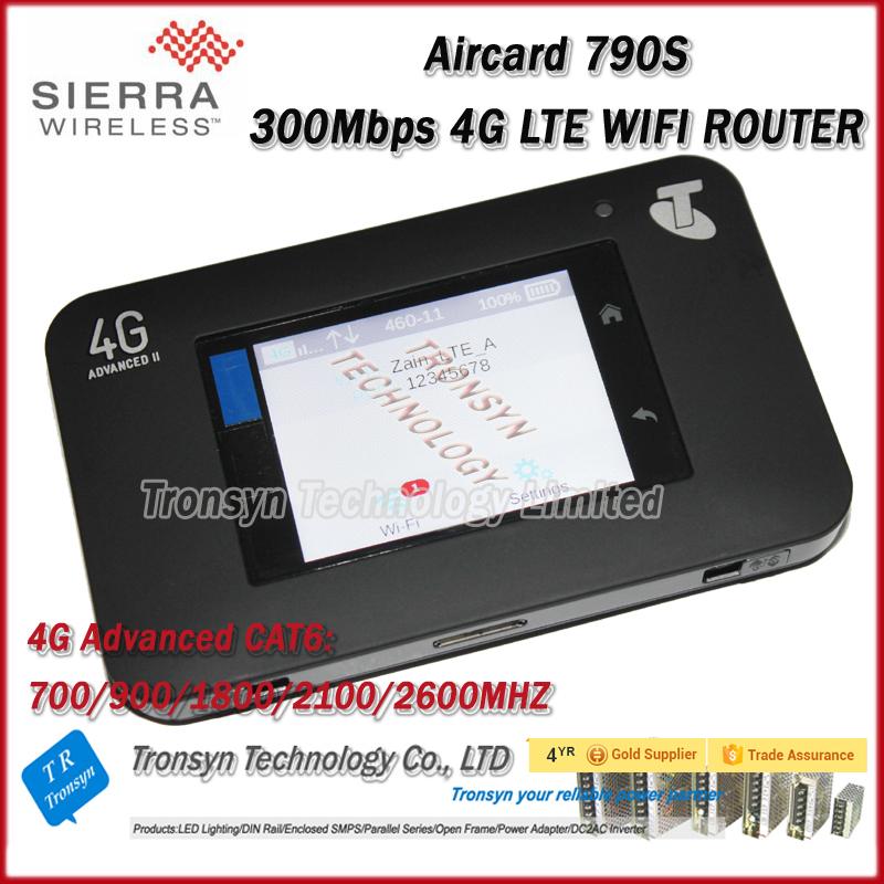 Original 300mbps 4G LTE CAT6 Portable WiFi Network Routers Sierra Wireless Aircard 790S Support LTE FDD B1 B3 B7 B8 B28