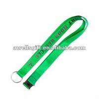 Plain Black promotional nylon lanyard Keychain ID card holder MP3/4 cell