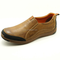 no laces polished and waxed flat outsole slip on casual moccasin loafer shoes fit for driving and walking