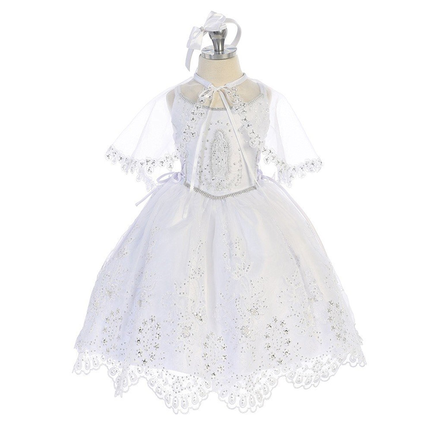 Get Quotations Angels Garment Baby S White Embroidered Organza Tail Baptism Dress 6 24m