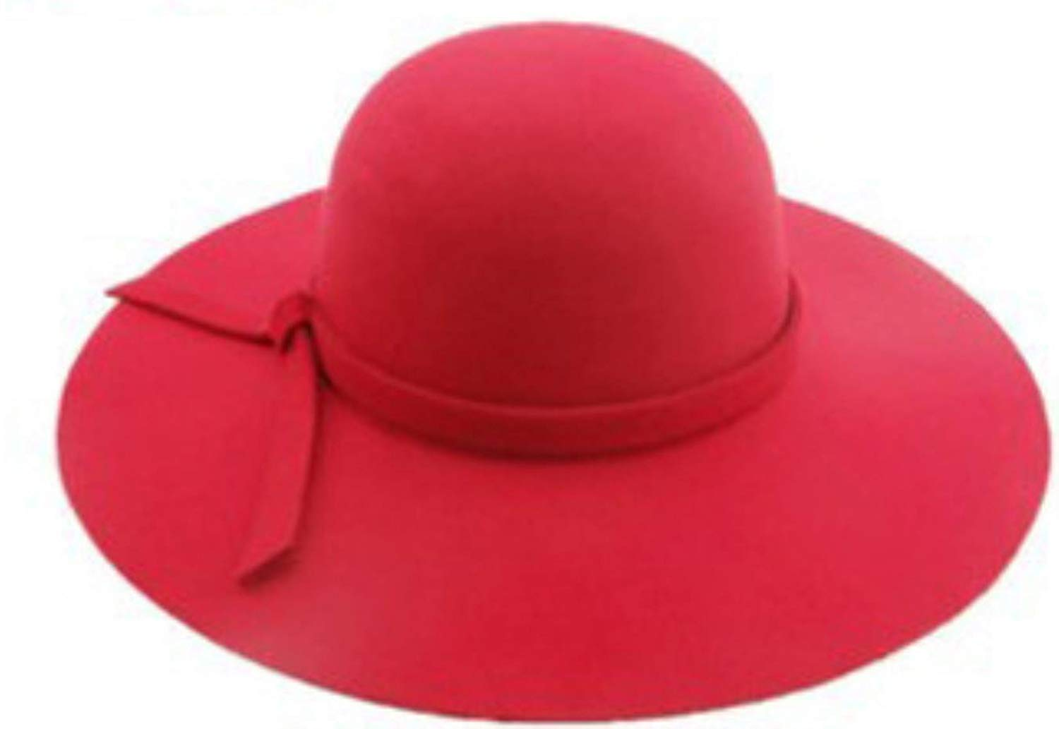 faa0e67c Get Quotations · Faux Wool Fedoras caps Style Stetson Sun Beach Hat Floppy  Style Wide Brim Foldable with tie