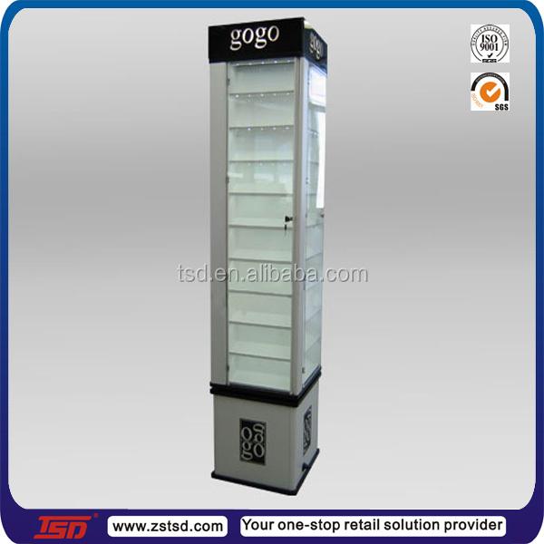 Tsd-w1279 Free Standing Glass Display Cabinet,Jewelry Glass ...