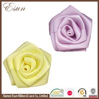 Handmade making artificial silk ribbon flower