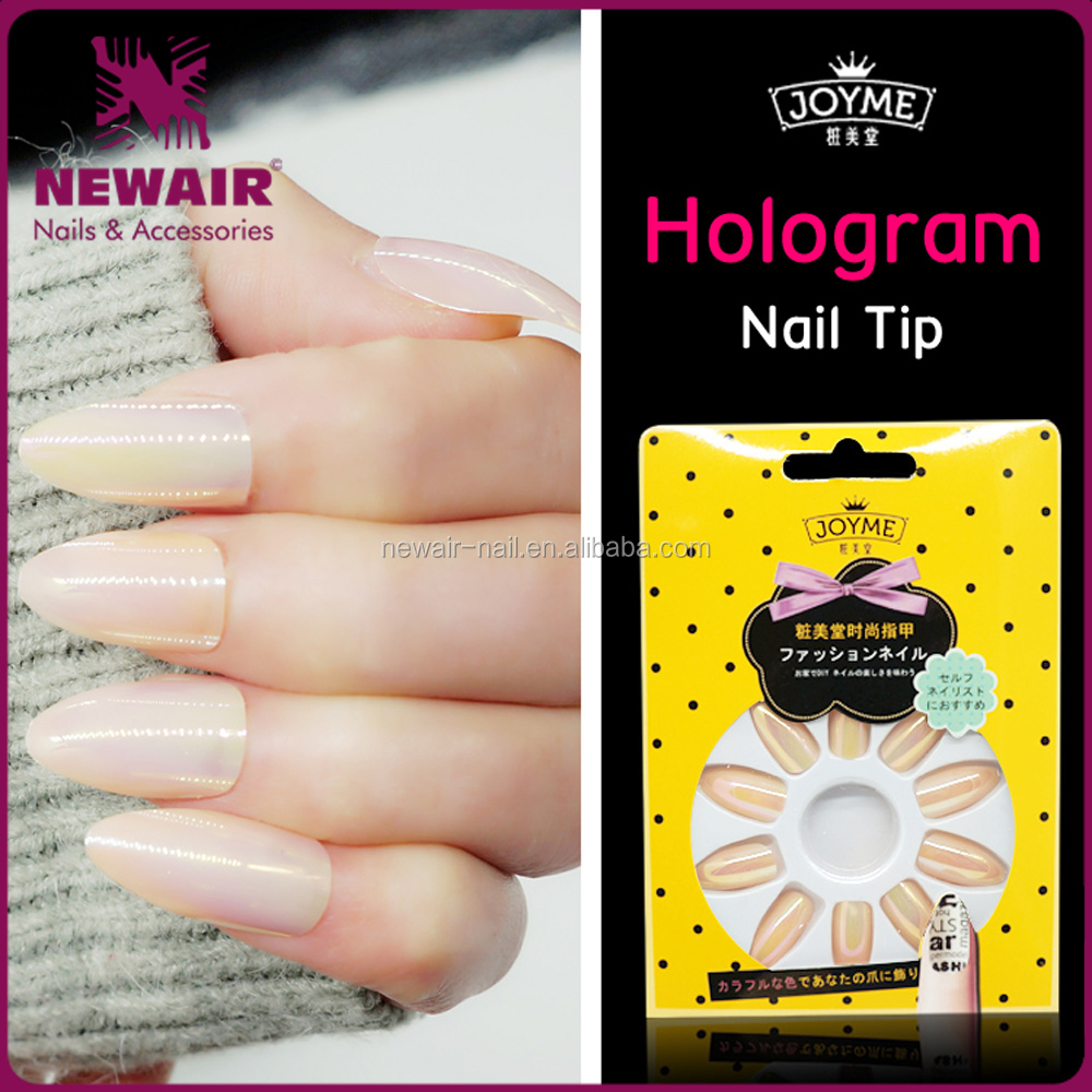 Nail art proveedor holograma diseño cromo sirena uñas punta-Uñas ...