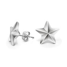56712cfa4af7 Todo tipo de nuevo diseño de moda de acero inoxidable pendientes joyería  Pentagram estrella modelado pendientes