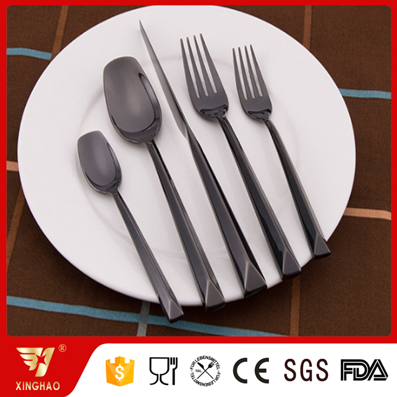 Stainless steel 304 can be plated colorful cutlery set safe food grade colored flatware