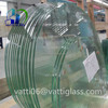 wholesale flat panel clear tempered glass table top price with polished edges