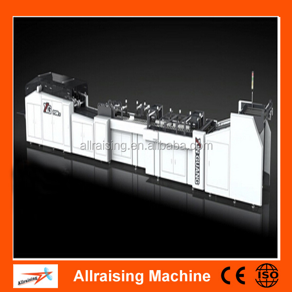CE Certification Automatic Sheet Feeding Square Bottom Fully Automatic Paper Bag Making Machine
