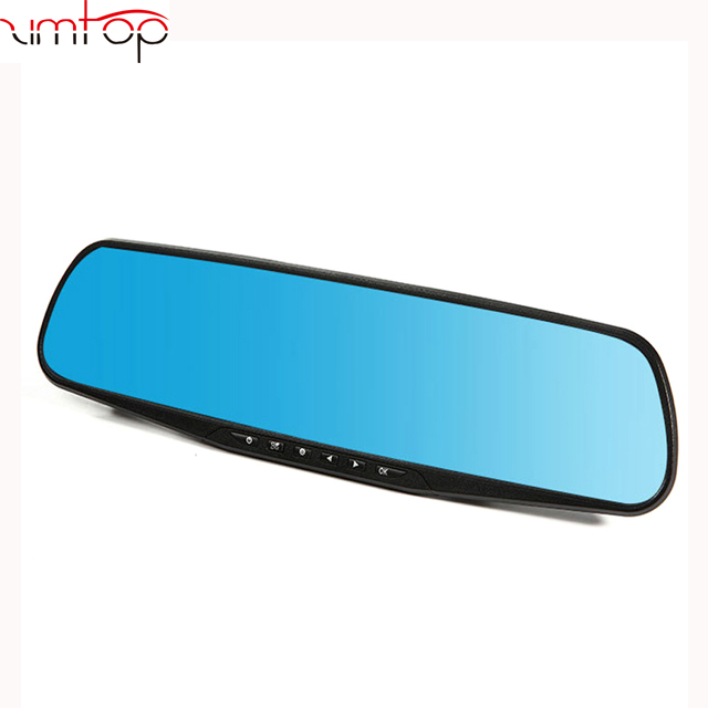 hot selling 4.3 inch HD 1080P dual lens car dvr rear view camera car rearview mirror