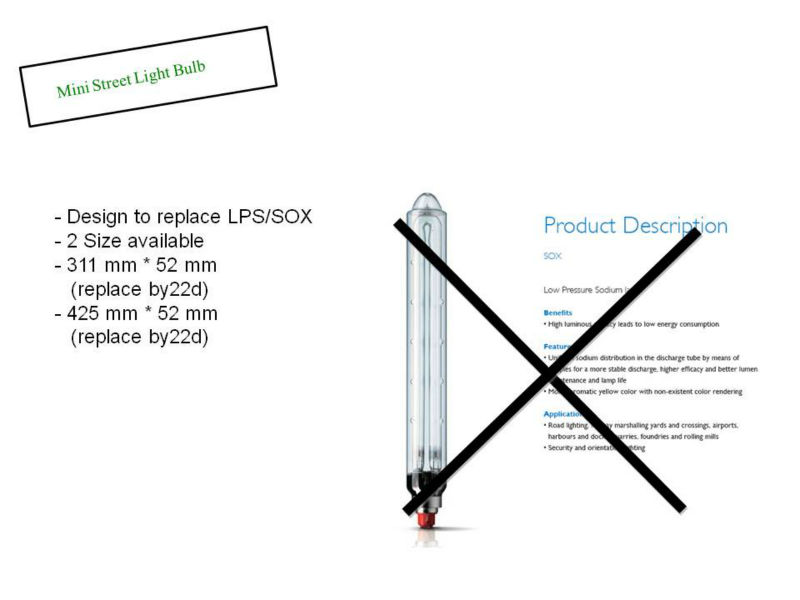 The LPS lamp is also called a SOX lamp (SO for sodium)