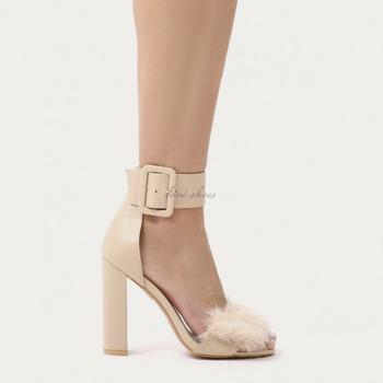 2017 Women Suede Block Heel Shoes