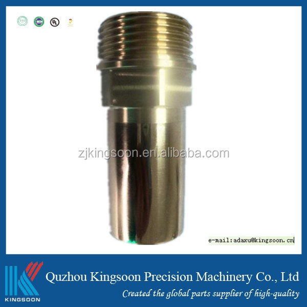 2016 high demand steel cnc turned part with thread