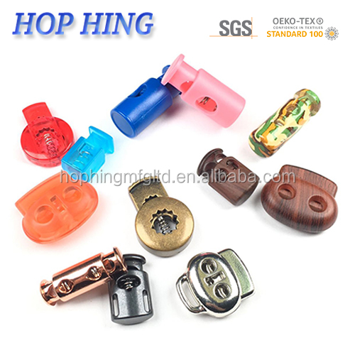 Pack Sizes of 5 50 25 Golberg Open Top Round Barrel Single Hole Spring Loaded Auto Locking Cord Locks 10 and 100 Made in USA Vibrant Array of Colors