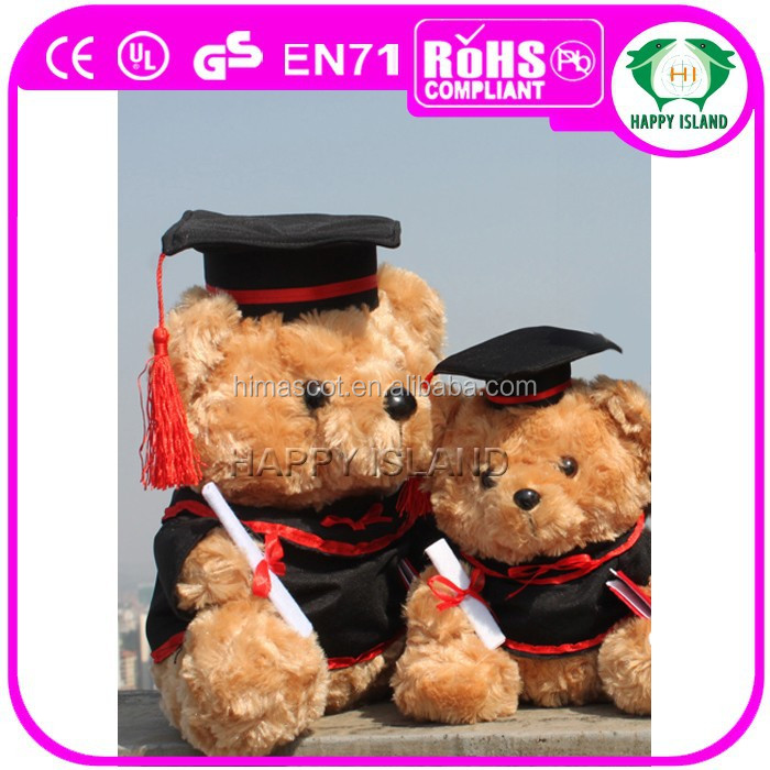 HI CE China manufacturer wholesale stuffed plush teddy bear soft toy graduation doll