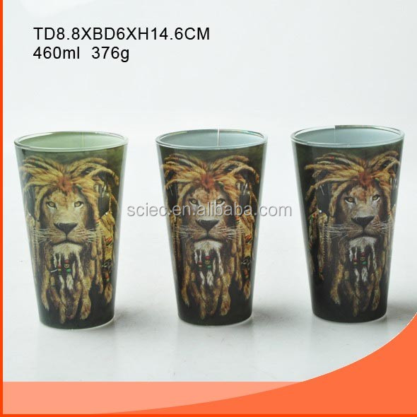460ml Smart Drinking Glass Cup And Decorative Painting