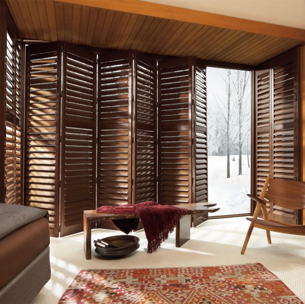 Custom blanco al aire libre plegable de madera persianas para ventanas y puertas buy plegable - Persianas venecianas verticales ...