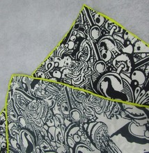 100% silk 14mm twill digital printed square silk scarf