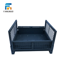 Stackable metal storage cage steel pallet cages